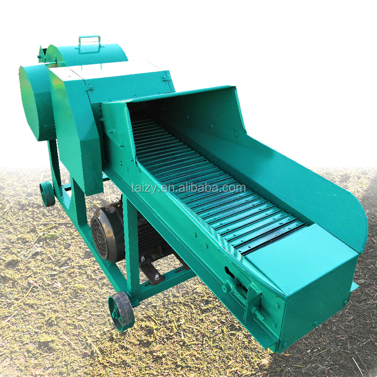 Small chaff cutter machine grass cattle feed hay chopper