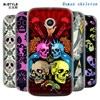 Human skeleton pattern cases for MOTO G E phone with so cool painting
