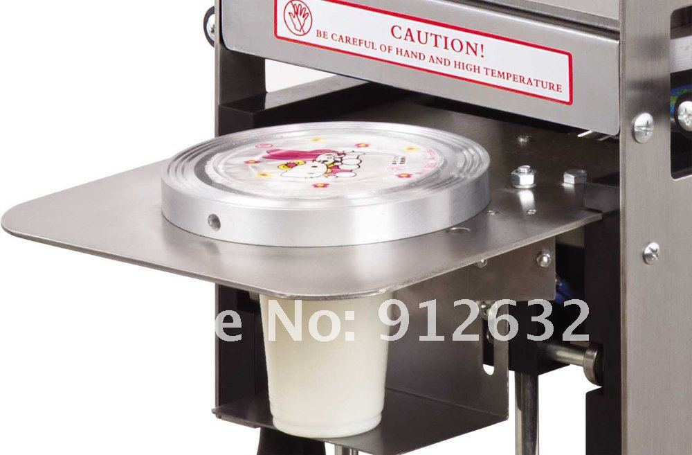 Diameter 95mm/75mm Stainless Steel Fully Automatic Cup Sealing Machine Cup Sealer