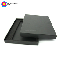 LOW MOQ NO MINIMUM custom made two pieces gift box for notebook stationery with foam insert