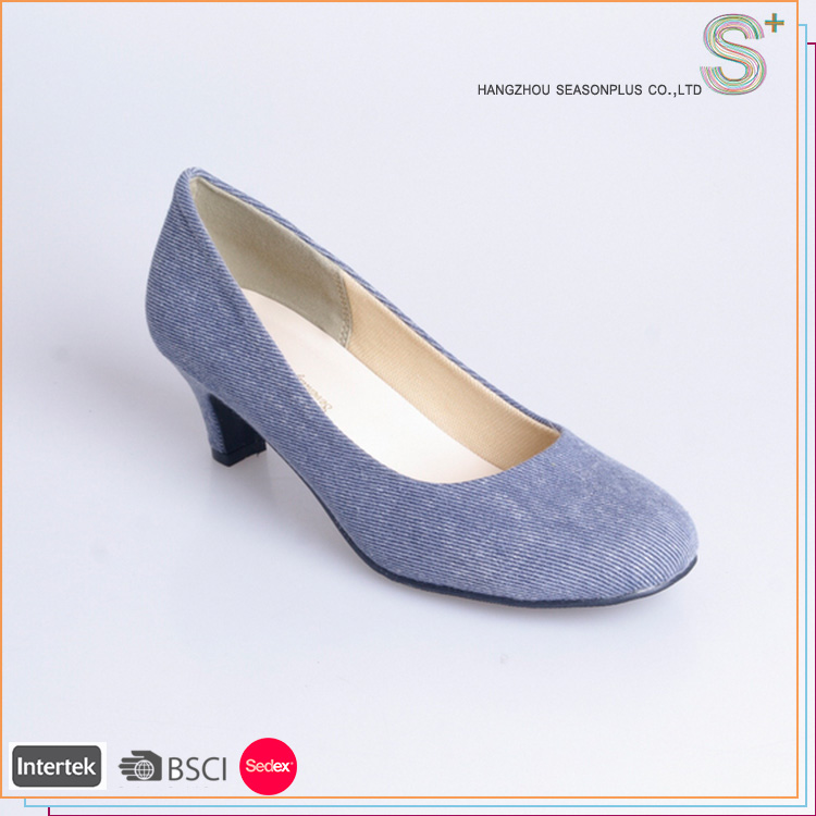 High quality wholesale new style sex low heel pump shoes woman