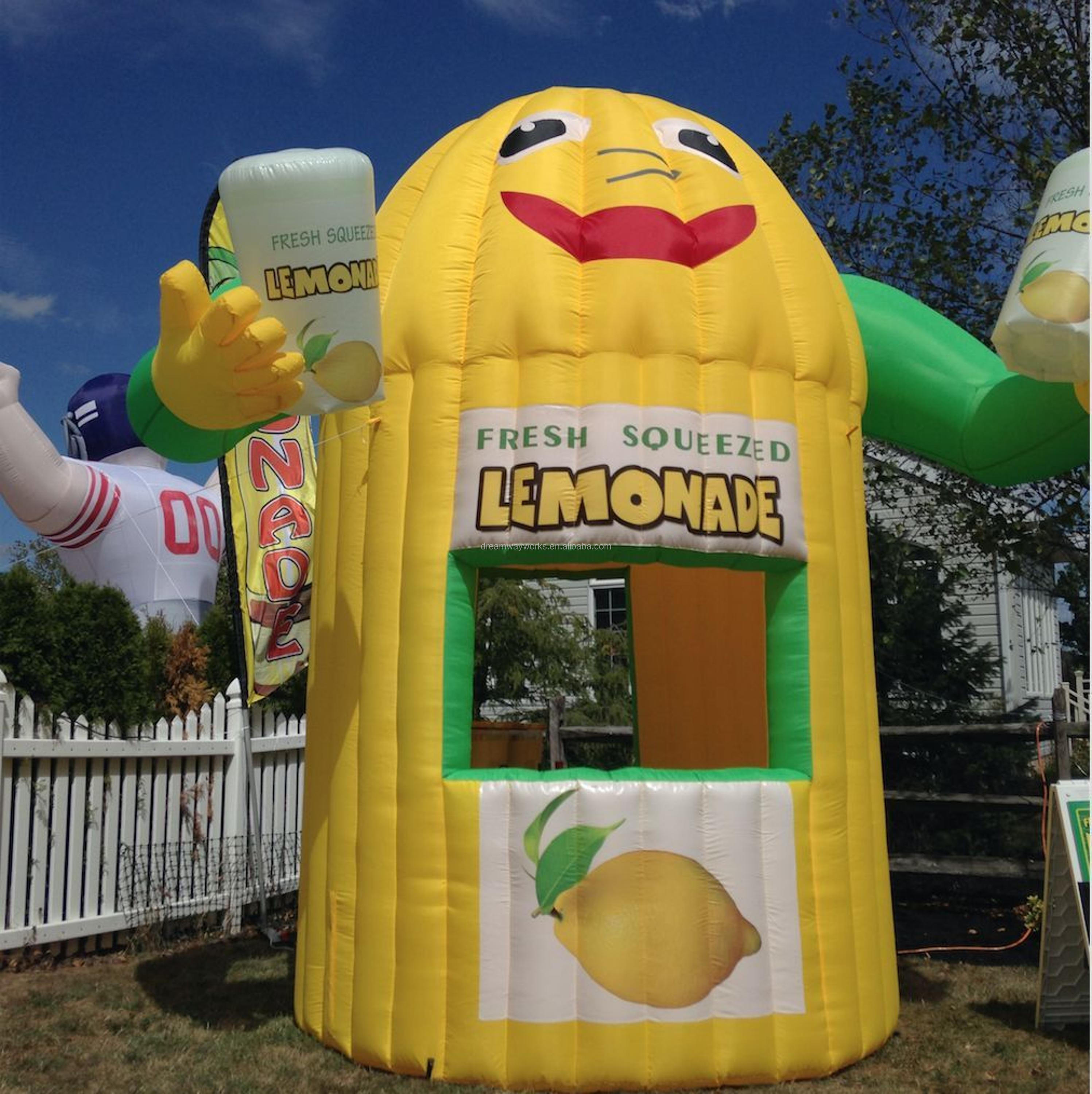 2017 Hot sale inflatable lemonade stand, lemonade stands tent with banners