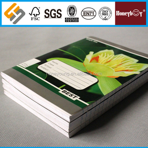 16x22 size white recycle paper/newspaper 200 pages notebook