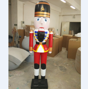 giant outdoor fiberglass soldier nutcracker for christmas decoration
