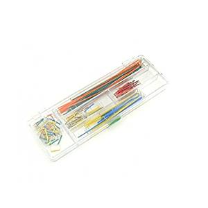 Venel--Multi Color U-Test Jumper Bread Board (Boxed),Included With This Kit Are Various Lengths of 22AWG Wire - 2, 5, 7, 10, 12, 15, 17, 20, 22, 25, 50, 75, 100, and 125MM - 10 Pieces of Each
