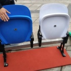 sport HDPE riser mounted folding chair tip-up stadium seat