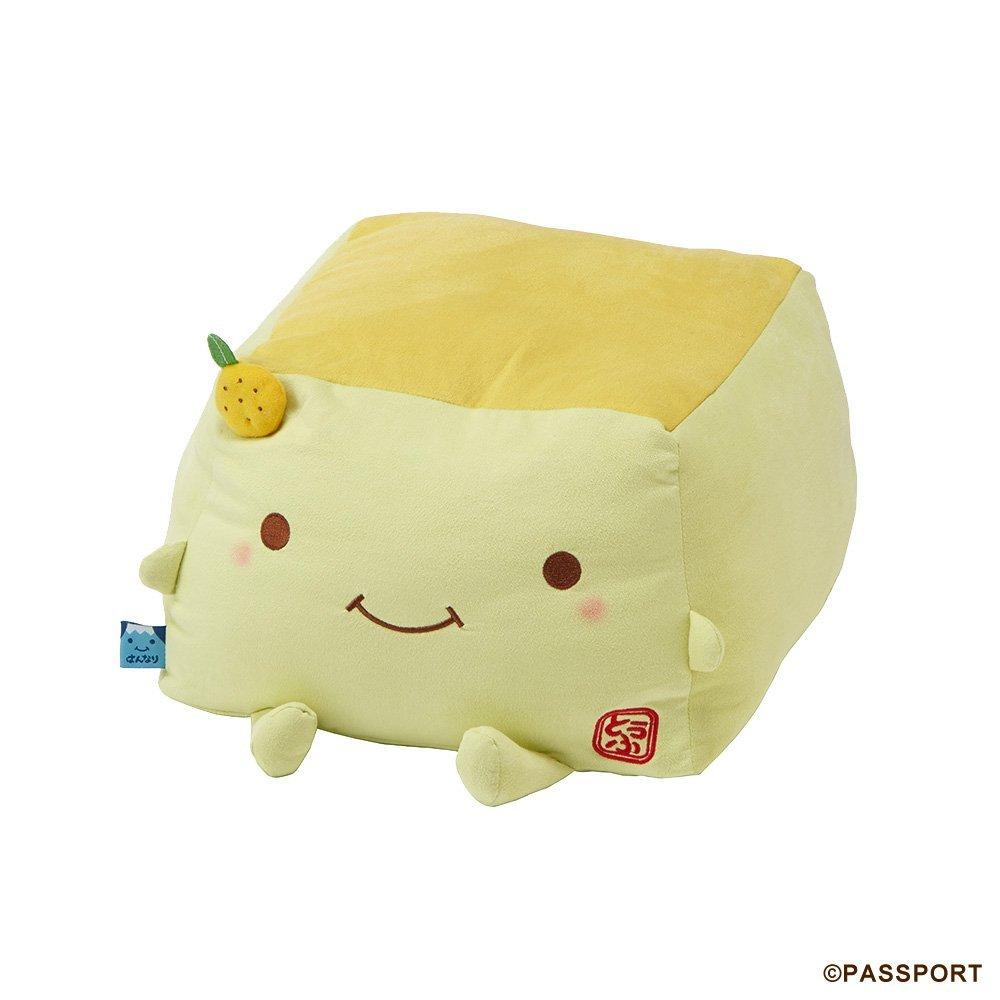 Passport Hannari Tofu Premium Stuffed animal cushion L Yuzu Tofu