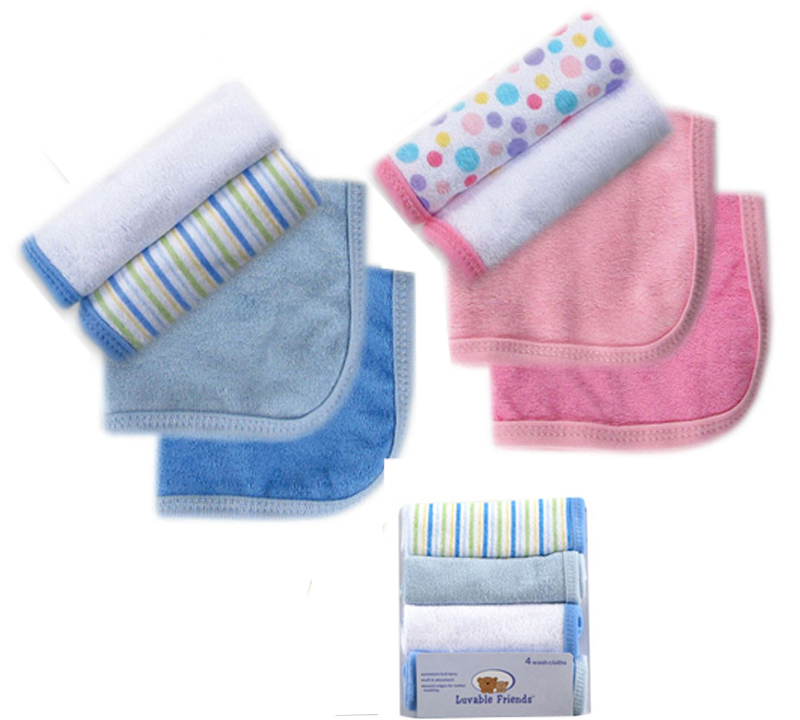 luvable friends baby bath towel 4pcslot kit soft baby newborn children bath towels washcloth