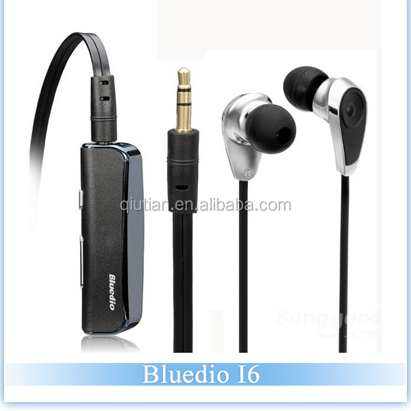 Bluedio i6 Clip-On Bluetooth 4.1 Wireless Headset with LED display for sport,go pro high quality Stereo Earphone
