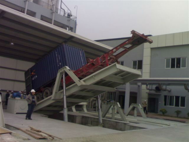KRD 20' 40' Container unloading equipment