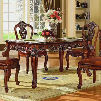 Home furniture solid wood marble table