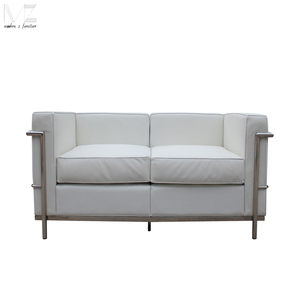 sectional double seats sofa Le Corbusier LC2 leather sofa