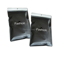 Best selling cheap price custom printed matt black resealable foil zip lock bags for tshirt clothes garment