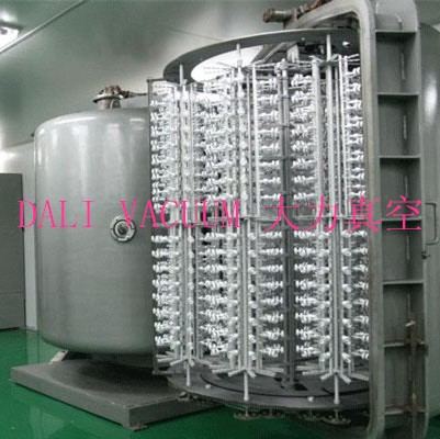 Automatic industrial PVD  plastic coating vacuum chrome metallized plating machine for jewell product