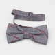 Cheap custom polyester checked classics bowtie for men's suit