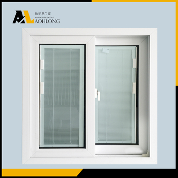 Blinds Inside Double Glass Window Pvc Frame Sliding Window