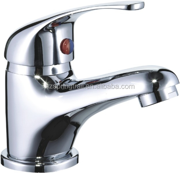 Classic Style single handle Deck Mounted bathroom brass chrome wash basin faucet