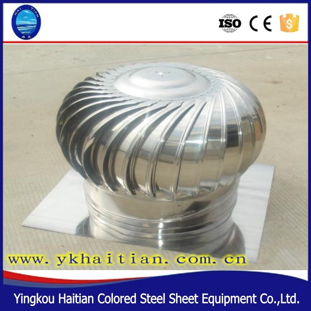 HT Export Natural Powerless Vent Wind Roof Ventilator/Stainless Steel Turbine Ventilation Roof Fan