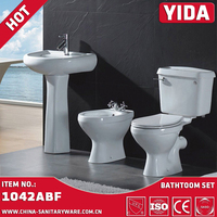 Pocerlain Separate wc toilet bowl Bathroom two piece washdown wc soft toilet seat small toilet price