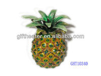 Tropical Pineapple pewter fruit jewelry box