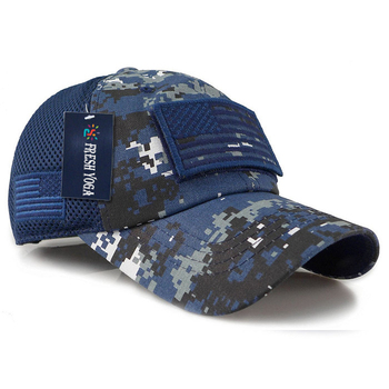 Camouflage constructed trucker mesh cap military operator USA flag  removable patch trucker hat d8f0e55139a