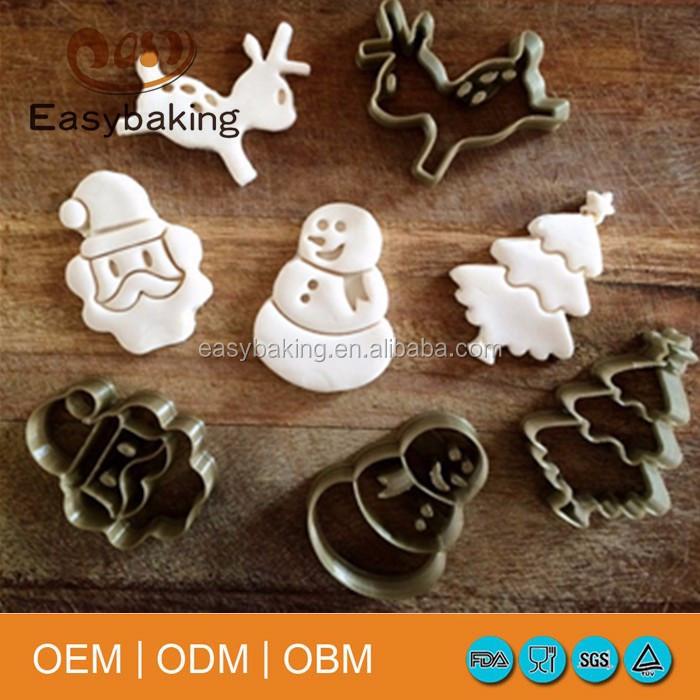metal christmas cutter fondant cake decorating tools set