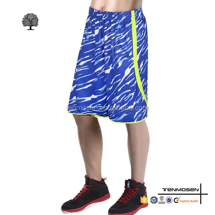 Customized cheap antique woven basketball mens shorts wholesale