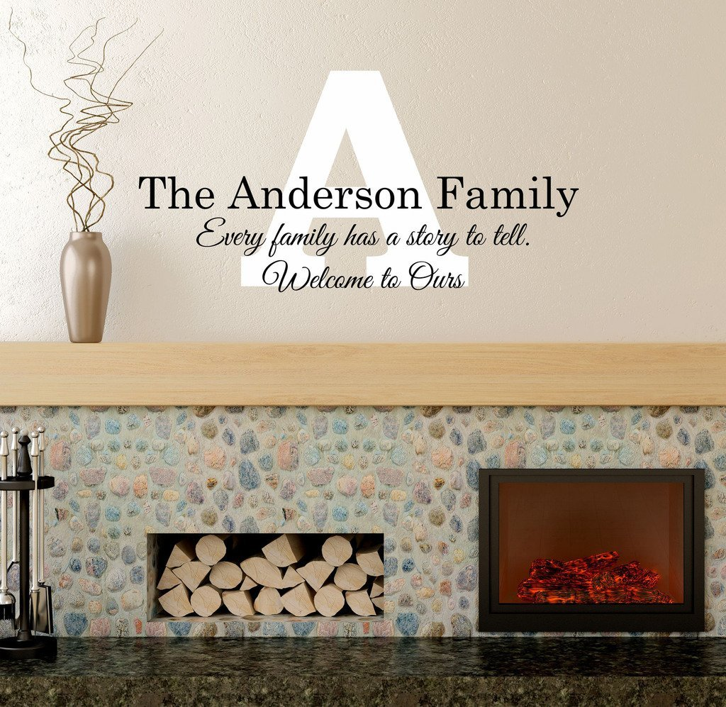 Every Family Has A Story Wall Decal - family name, family signs, wall decals, every family quote, family wall decals, quote wall decals PP42