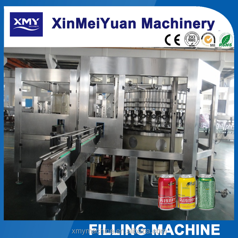 Automatic aluminum Can filling machine for soft drink beverage