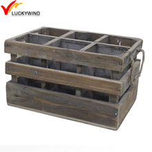 Natural Old Fir Finish Vintage Wooden Beer Wine Crates