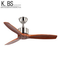 Zhongshan Lighting Factory Fan Ceiling Modern Solid Wood Blades Energy Saving Ceiling Fan