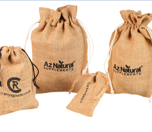 reusable wholesale customized jute bag for cocoa beans