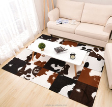 Fake Leather Cowhide Animal Skin Patchwork Area Carpet and Rug