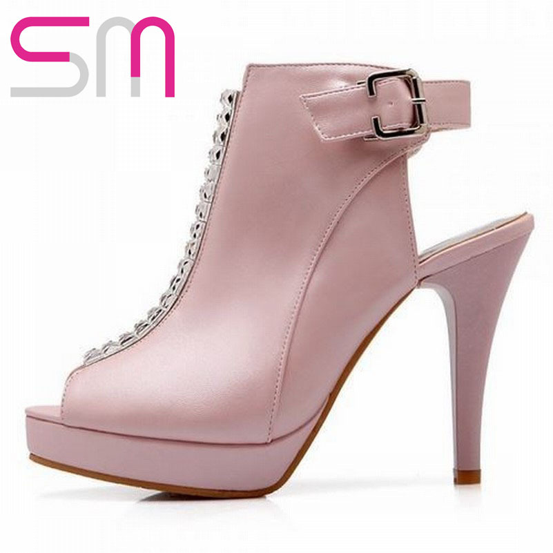 Fashion 2015 High Spike Heels Open Toe Gladiator Sandals For Women Casual Dress Sexy Rhinestone Party Sandals Shoes For Women