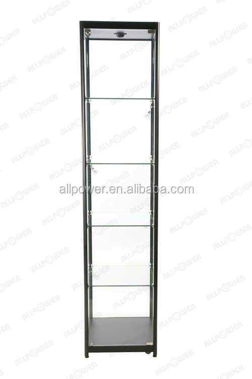 מקורי חלון ראווה מזכוכית חדש קיוסק , באיכות מעולה מזג זכוכית שקופה מגדל HV-82
