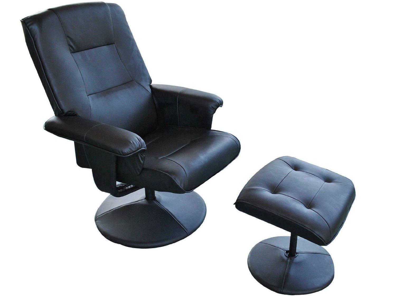 Generic YanHong150720-284 8yh1278yh W/Ottoman New Lounge Chair Office fice Living Black PU Leather Black PU LivingRoom W/Ottoman New Swivel Lo Recliner Swivel ther Recl LivingRoom W/Ottoman New
