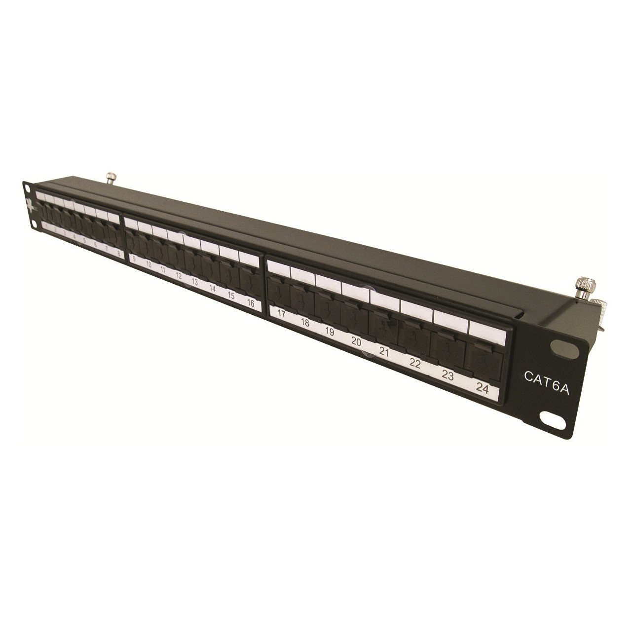 """Get Quotations · Vertical Cable Cat6A 24 Port Shielded Krone Type 19""""  Horizontal Rackmount 1U Patch Panel"""
