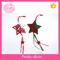 Ribbon star hanging Christmas decoration