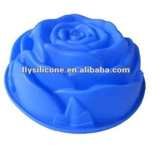 Big Flower shaped Non stick Silicone Rose Cake Mold