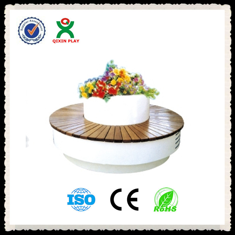Customized high quality firberglass potting bench/china whole outdoor round bench /cheap garden furniture round chair QX-144C