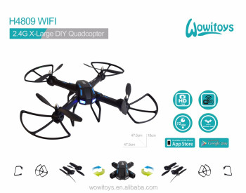 WiFi DIY drone with 2MP servo camera and FPV drone and WIFI drone, altitude hold, headless