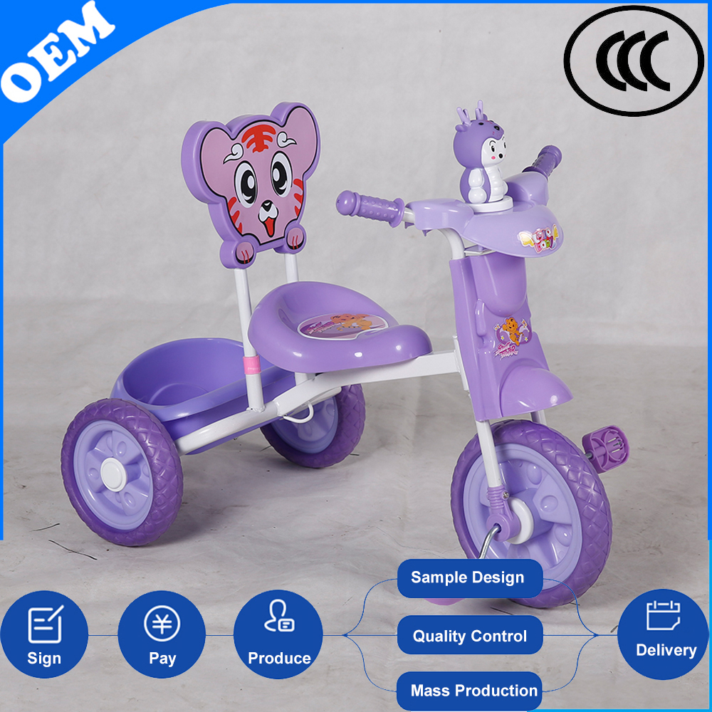 China direct selling new model comfortable Safe fisher price baby first strollers toddler tricycle for children with umbrella
