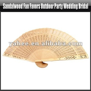 Sandalwood Fan Favors Outdoor Party Wedding Bridal,YFK155A