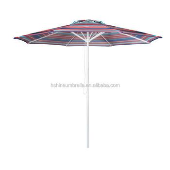 9 Feet Pulley Open Restaurant Garden Furniture Striped Patio Umbrella