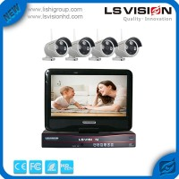 LS Vision Wireless Digital Home 4ch DVR Infrared Security Camera System with 10'' LED Monitor