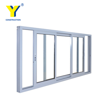 Aluminium Frame Double Sash Sliding Windows Exterior