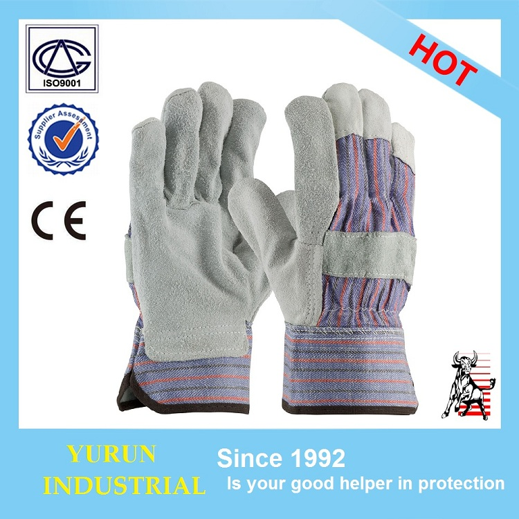 YRsafety Split Cowhide EN420 EN388 Driver Wedding Welding Gardening Safety Leather Working <strong>Gloves</strong>