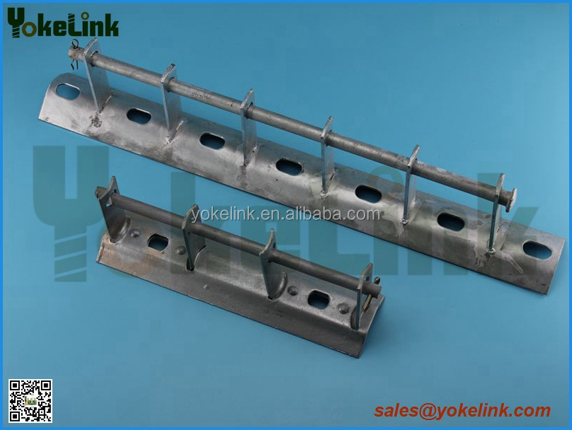 Carbon steel Hot Dip Galvanized Secondary Rack for Overhead Power Line Fitting