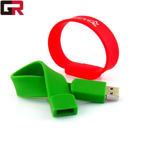 Bulk Cheap Silicon 8GB USB Flash Drives 4GB Silicone USB Bracelet/Wristband USB