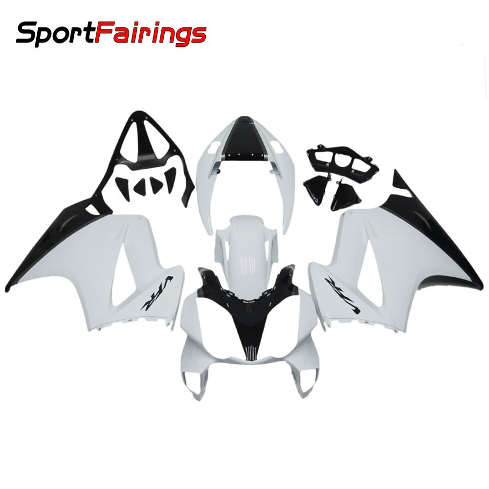 Sportfairings Complete Injection Fairing Kits For Honda VFR800 RC46 2002-2012 Fairings White Pearl Black Sportbike
